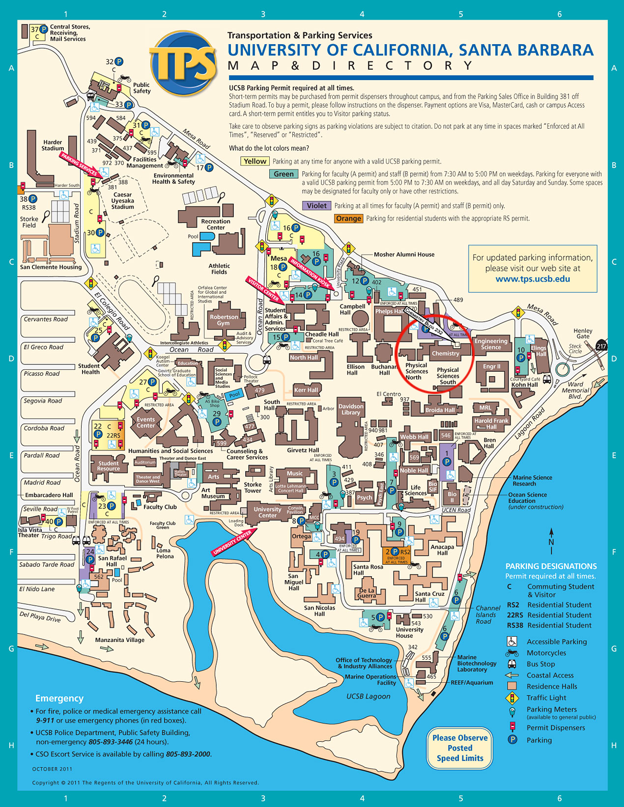 Campus Map. Support Chemistry & Biochemistry