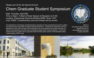 2nd Annual Chem Grad Student Symposium
